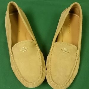 Coach suede tan driving moccasins
